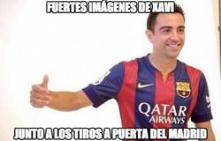Enlace a Xavi junto a los tiros a puerta del Madrid