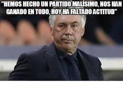 Enlace a Al menos, Ancelotti lo ha reconocido