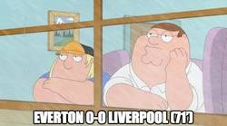 Enlace a Everton 0-0 Liverpool. Divertido que no veas
