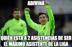 Enlace a Messi a dos asistencias de conseguir otro récord