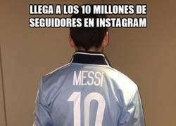 Enlace a Messi llega a los 10 millones de seguidores en Instagram