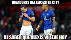 Enlace a Alexis vuelve hoy ante el Leicester
