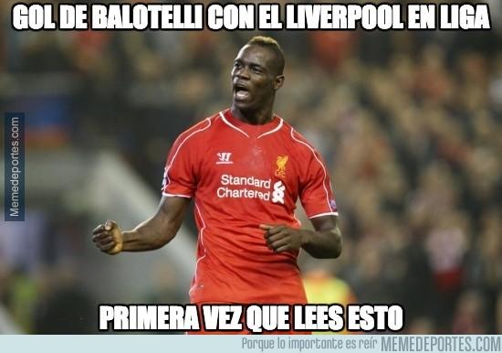 447508 - Gol de Balotelli con el Liverpool en liga