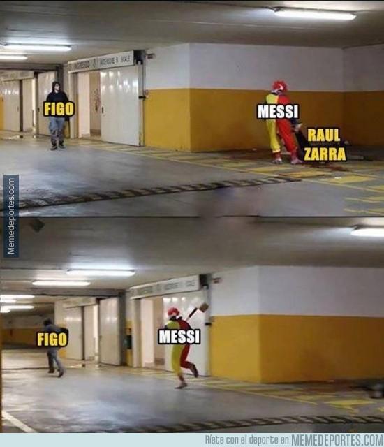 447572 - Messi acabó con Raúl y Zarra, ahora va a Por Figo