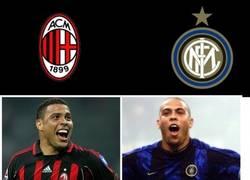 Enlace a Milan-Inter. Se pasan los jugadores como dos colegas la novia