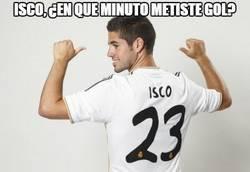 Enlace a Isco, ¿en qué minuto metiste gol?