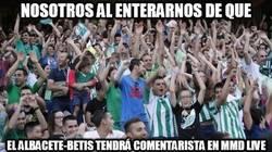 Enlace a Sigue el Albacete-Betis en el mejor minuto a minuto de Internet