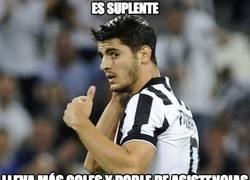 Enlace a Morata adaptándose finalmente a la Juve