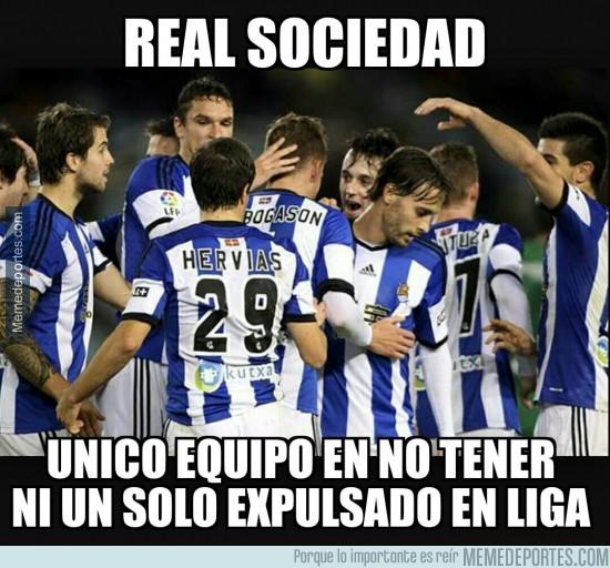 450166 - La Real no lleva ni una roja en Liga #RESPECT