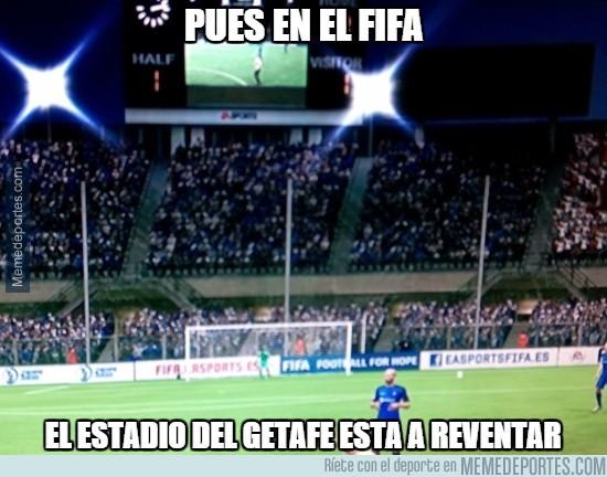 452358 - Pues en el FIFA en estadio del Getafe está a reventar