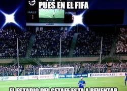 Enlace a Pues en el FIFA en estadio del Getafe está a reventar