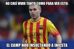 Enlace a El Camp Nou ya se ha cansado de la renta de Iniesta