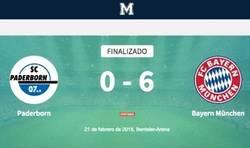 Enlace a Espectacular el Bayern una vez más. Set y partido. Mira en nuestro directo todos los goles