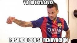 Enlace a Alves, lo de tu renovación está complicado tío