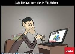 Enlace a Luis Enrique no pudo abrir el MSN contra el Málaga
