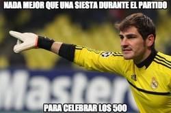 Enlace a Buena celebración de Casillas en su partido 500