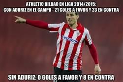 Enlace a El Athletic depende mucho de Aduriz