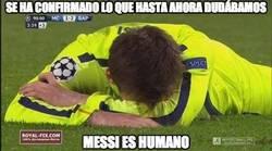 Enlace a Messi es humano