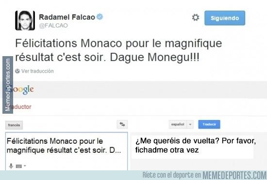 458046 - El tweet de Falcao y la traducción de lo que realmente quería decir