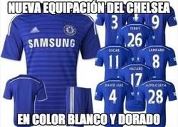 Enlace a Nueva equipación del Chelsea en color dorado ¿TeamWhite o TeamBlue?