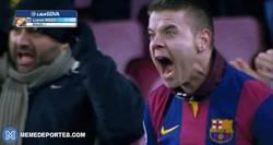 Enlace a GIF: Reacción de los culés al empate del Real Madrid, ajusta la clasificación