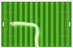 Enlace a Mapa de calor de Cristiano contra el Villarreal