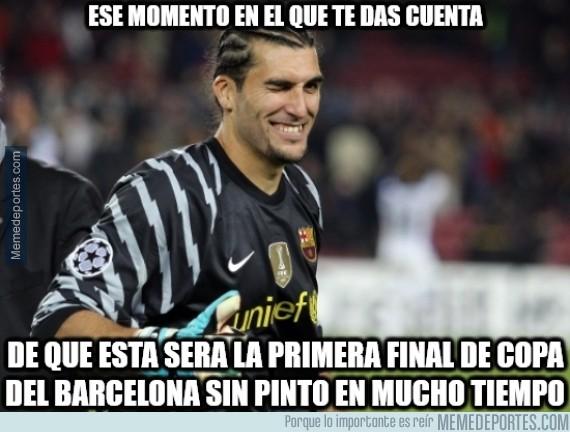 464982 - ¿Te imaginas que Pinto era el amuleto del Barça en Copa del Rey?