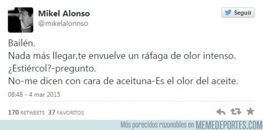 465334 - Mikel Alonso, hermano de Xabi, la lía en Twitter, a la entrada de Jaén se le ocurre decir esto