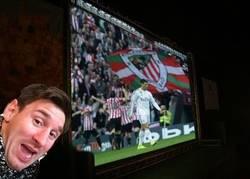 Enlace a Un chop de Messi acorde a la ocasión