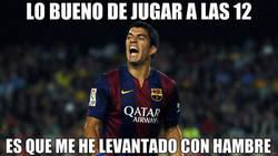 Enlace a Luis Suárez se levantó con hambre