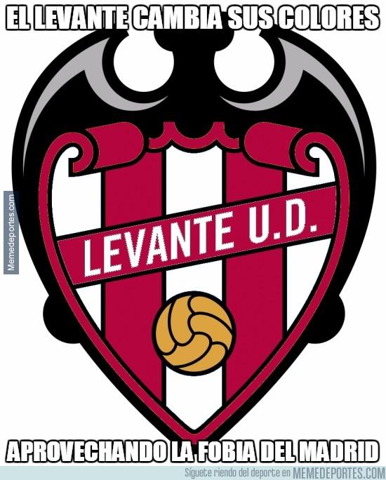 470396 - El Levante cambia sus colores para intimidar al Real Madrid, ya que los rojiblancos se le dan mal