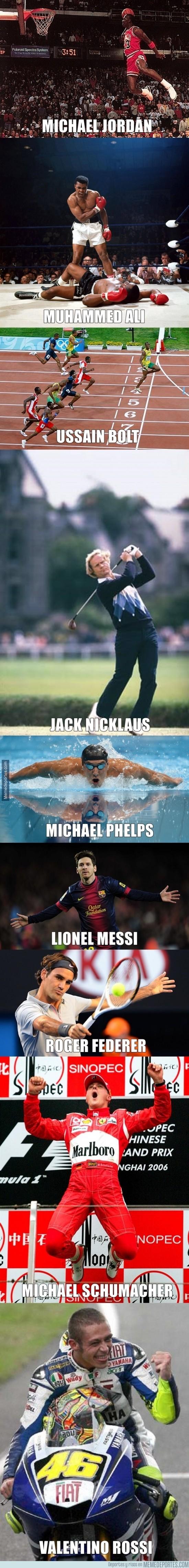 471177 - ¿Son estos los mejores deportistas de la historia en sus respectivos deportes?