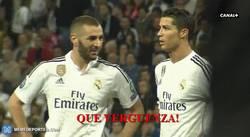 Enlace a GIF: Esto dijo Cristiano a punto de finalizar el partido