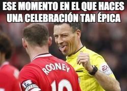 Enlace a Hasta al árbitro le ha gustado la celebración de Rooney