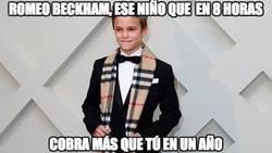 Enlace a Romeo Beckham, a sus 12 años, cobró 45000 libras por 8 horas de trabajo como modelo