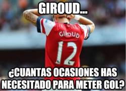 Enlace a Giroud, un poco más de puntería, hombre