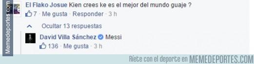 480474 - Villa y Messi no se llevan bien, decían...