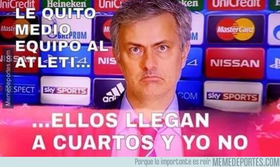 480644 - Mourinho no entiende pur qué el Chelsea no ha pasado a cuartos