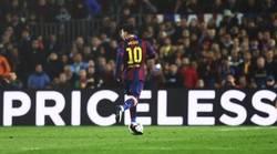Enlace a Y otra vez, Messi se sitúa en el lugar exacto, con el mensaje exacto