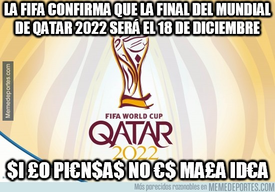 482236 - La FIFA confirma que la final del Mundial de Qatar 2022 será el 18 de diciembre