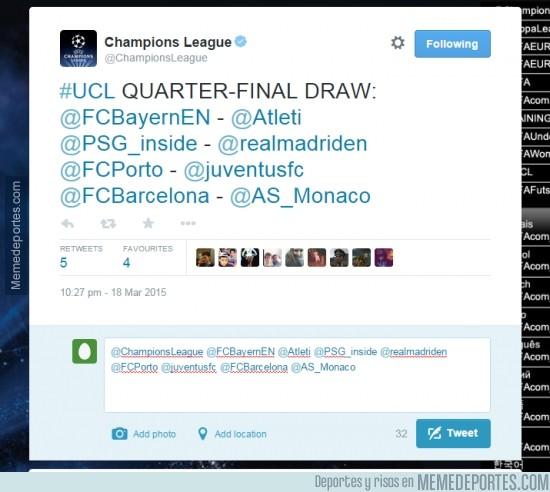 482476 - OJO, filtración del sorteo de Champions. ¿Será verdad?