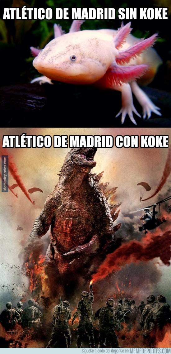 484545 - Diferencias del Atlético con y sin Koke
