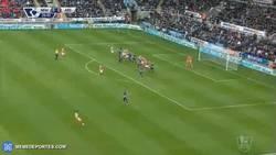 Enlace a GIF: Gol de Giroud, el francés sigue on fire
