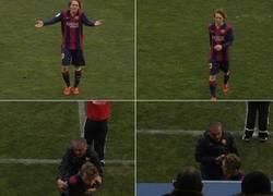Enlace a Menudo espectáculo el que ha montado Halilovic, jugador del Barça B, al ser sustituido