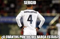 Enlace a Sergio, ¿a cuántos puntos del Barça estáis?
