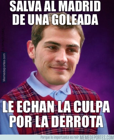 487213 - Bad luck Casillas, haga lo que haga, será criticado