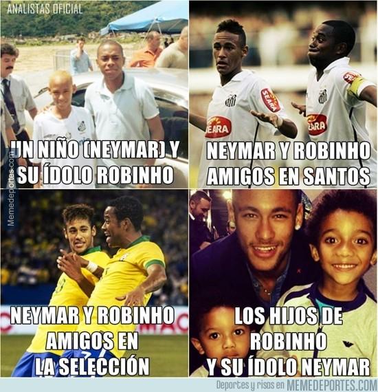 488366 - Cómo ha ido evolucionando la relación entre Neymar y Robinho, de fan a ídolo