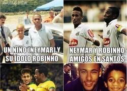 Enlace a Cómo ha ido evolucionando la relación entre Neymar y Robinho, de fan a ídolo
