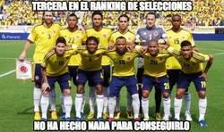 Enlace a Colombia tercera en el ranking de selecciones