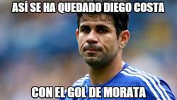 Enlace a La cara de Diego Costa al ver el gol de Morata en 27 minutos